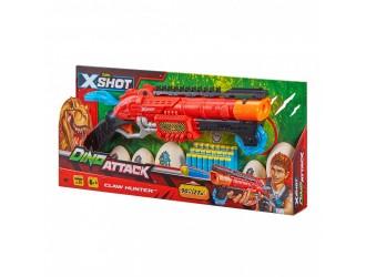 4861 Blaster cu tragere rapida DINO Claw Hunter (2 oua medii, 4 oua mici, 24 cartuse) X-Shot