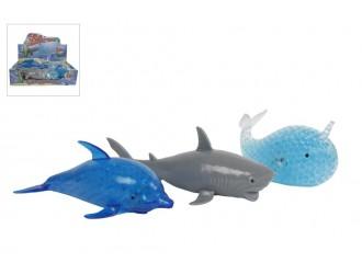 620906 Jucarie stretch Animale marine cu bilute orbeez in interior 18cm (in asortiment: delfin, rechin sau balena)