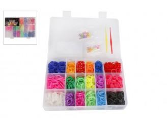 620082 Set elasticuri pentru bratari Loom Bands multicolore