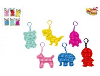 621001 Jucarie breloc animale Pop It! diverse culori in asortiment