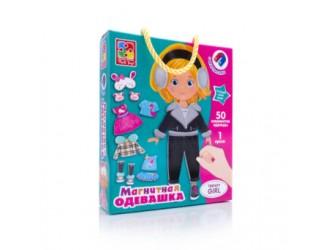 "VT3702-18 Joc magnetic ""Imbraca fetita Trendy girl "" (l. rusa) Vladi Toys"