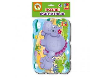 """VT3205-57 Puzzle magnetic А5 """"Hipopotamii"""" l.rusa Vladi Toys"""