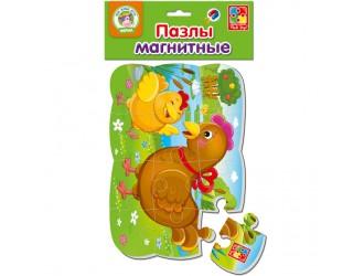 "VT3205-61 Puzzle magnetic А5 ""Gaina si puiul"" l.rusa Vladi Toys."