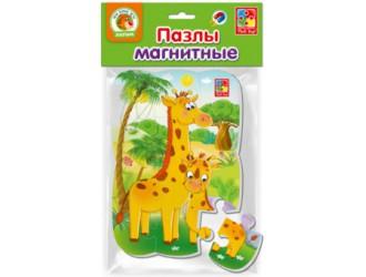 "VT3205-62 Puzzle magnetic А5 ""Girafele"" l.rusa Vladi Toys"