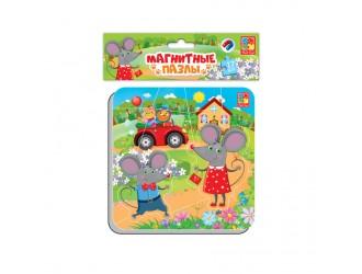 """VT3204-14 Puzzle magnetic  """"Soriceii"""" l.rusa Vladi Toys"""