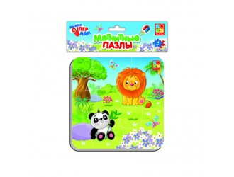"VT3204-12 Puzzle magnetic  ""Zoo"" l.rusa Vladi Toys"