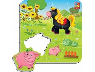 "VT3204-11 Puzzle magnetic  ""Ferma"" l.rusa Vladi Toys"