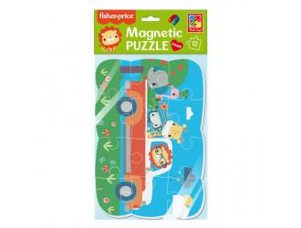 "VT3205-97 Puzzle magnetic А5 ""Fisher Price. Calatoria vesela"" Vladi Toys"