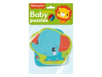 "VT3208-14 Baby Puzzle magnetic ""Fisher Price. ""Leul si Elefantul"" Vladi Toys"