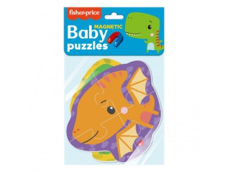 """VT3208-16 Baby Puzzle magnetic """"Fisher Price. Dinozaurii"""" Vladi Toys"""
