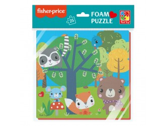 """VT1109-02 Puzzle moale 22x23 """"Fisher Price. Animale din padure"""" Vladi Toys"""