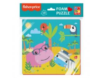 """VT1109-04 Puzzle moale 22x23 """"Fisher Price. Hipopotamul si Zebra"""" Vladi Toys"""