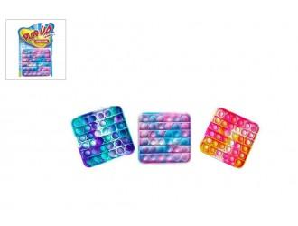 621013 Игрушка-антистресс Pop It    12,5cm квадратный / круглый Разноцветный