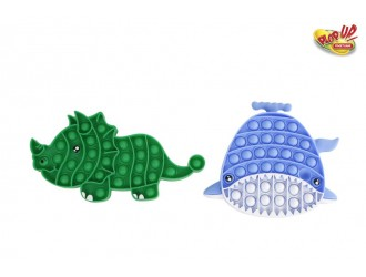 621042 Jucarie Antistres Pop It 20cm Balena/Dinozaur