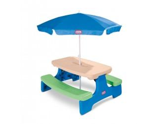 629952M Masuta picnic pentru copii cu umbrela Easy Store Little Tikes