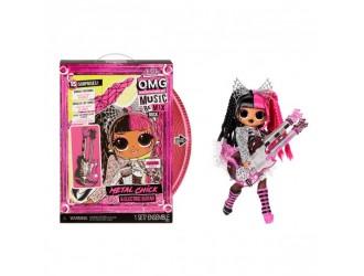 """577577 Набор куклы L.O.L. СЮРПРИЗ! Серия """"O.M.G. Remix Rock"""" - METAL CHIC  с электрогитарой"""