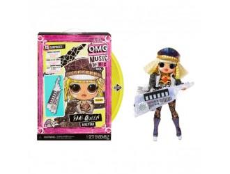 """577607 Set papusa L.O.L. SURPRISE! seria """"O.M.G. Remix Rock"""" - FAME GUEEN chitara cu clape"""