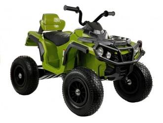 4119 Motocicleta electrica cu 4 roti BDM0906 cu roti pompate - Verde