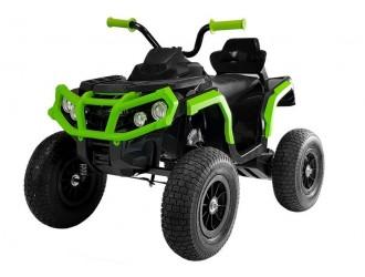 4116 Motocicleta electrica cu 4 roti BDM0906 cu roti pompate - Negru