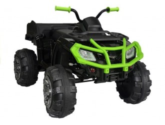 2502 Motocicleta electrica cu 4 roti BDM 0909 culoare verde 24V