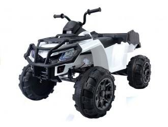 2499 Motocicleta electrica cu 4 roti BDM 0909 culoare alba 24V