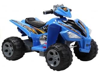 2036 Motocicleta electrica cu 4 roti - culoare albastra