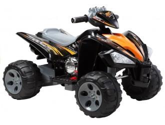 2034 Motocicleta electrica cu 4 roti - culoare neagra