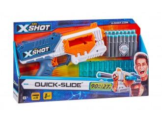 36401 Jucarie Pistol QUICK SLIDE X-SHOT (16 cartuse) 660091