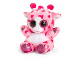 SF6561 Jucarie de plus Girafa Roz Animotsu 15cm - Pink Heart Giraffe