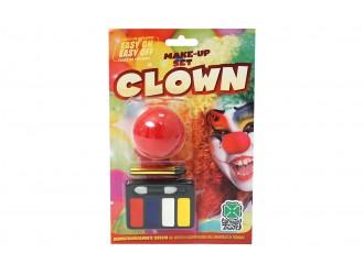 360685 Set carnaval nas de clovn cu vopsea pentru fata  09466