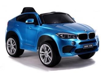 3287 Masina Electrica BMW X6 culoare albastra cu 2 motoare