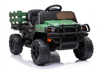 4172 Masina electrica verde cu remorca incorporata BDM0926