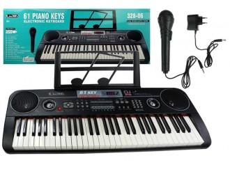 7448 Игрушка фортепиано с микрофоном 328-06