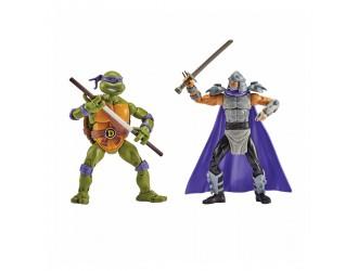 81279 Набор фигурок черепахи-ниндзя Donatello vs Shredder 15 см с суставами TMNT
