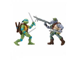 81276 Набор фигурок черепахи-ниндзя Леонардо против рокстеди, 15 см, с суставами TMNT