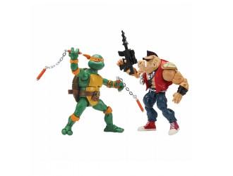 81277 Set Figurine Testoasele Ninja Michelangelo vs Bebop 15 cm cu articulatii TMNT
