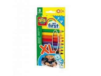 14416 Набор цветных карандашей My First 8  цветов SES CREATIVE