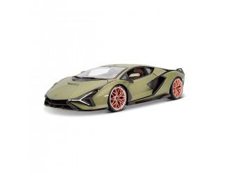 18-11046G Модель автомобиля Lamborghini Sian FKP 37 (1:18) зеленый металлик матовыи  Bburago