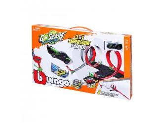 18-30533 Игровой набор 3-в-1 Supersonic Lounch Go Gears Bburago