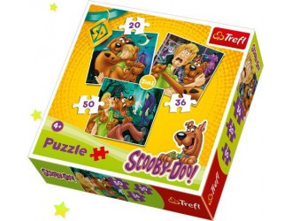 34145 Trefl Puzzle ''3in1'' Look out Ghosts