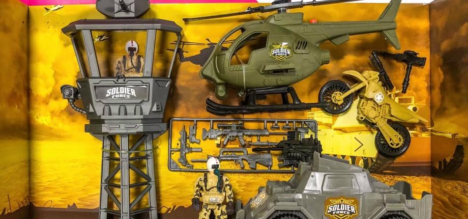 Profită în luna octombrie de reduceri de 20% la toate seturile de joaca de la Soldier
